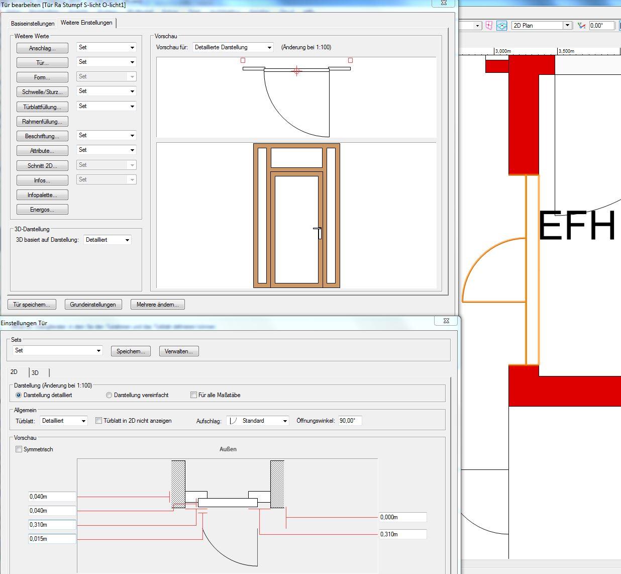 Türe mit Seitenteil und Oberlicht - Vectorworks ...
